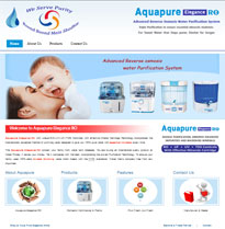 service website design aqua pure elegance