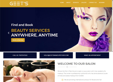 Geets Make Up Studio Panchkula